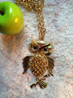 popular necklace fashion accessories necklace small animal full rhinestone owl necklace