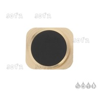 Home Button Key Replacement Part for iPhone 5 - Gold / Black Free Shipping Wholesale