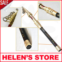 Free shipping new 2014 2.4m 9 sections carbon carp fishing rod spinning telescopic rod
