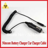 Free Shipping + 1PC Nitecore I4 Charger Nitecore Battery Charger Car Charge Cable for Nitecore Charger DC 12V Car Adapter Cable