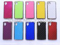 Free Shipping! Luxury Bling Diamond Rhinestone Star Electroplated Hard Back Case Cover for LG Google Nexus 5 D820 D821, LGC-038