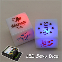 4pcs/lot LED Sexy Dice Luminous Dice Sexy Toys for Lover Adult Products Sex Fun Toys Passionate Positions 18x18mm
