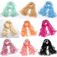 Fashion Girl Lady Pure Color Soft Long Scarf Pashmina Wrap Shawl Scarves Wrap