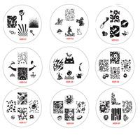 ( MZR 01-25 ) 1PCS Stamper +1 PCS Scraper + 5PCS Image Plates Nail Art Stamping Set Stamping Nail Printer Tool