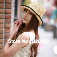 Free shipping!Hot selling 2014 New fahison summer straw women's sun hats sunbonnet cap M61