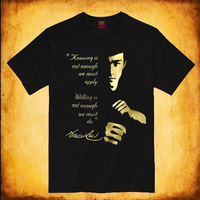 Bruce Lee T-Shirt / Jeet Kune Do T-shirt / 100% cotton O-Neck Short sleeve with golden or sliver Bruce Lee Jeet Kune Do pattern