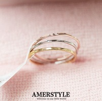 Fashion Style Three Circle Multi-Colors Rings,Exclusive & Simple. Minimum Order $10 before Free Shipping. Can Mix Different Item