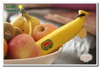 Free Shipping Fedex 100 Piece Novelty Three Folding Qute Portable Rain Sun Banana Umbrella UM-Banana Portable Umbrella