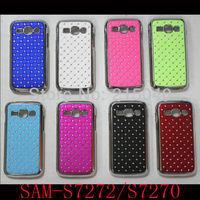 Free Shipping! Luxury Bling Star Diamond Rhinestone Chrome Hard Back Case Cover for Samsung Galaxy Ace 3 S7270 S7272, SAM-180