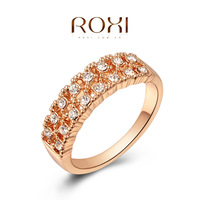 Fashion Accessories Jewelry 18K Rose Gold Plated Austria Crystal Full CZ Diamond with SWA element Gorgeous Rings for Women