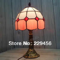 Tiffany Table Lamp Mediterranean Sea 8 Inch Multicolour Glass Living Room Bedside 3 Color E27 110-240V