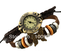 Free Shiping wholesale leather cord women dress watch leather watch bracelet for women  PK-S037