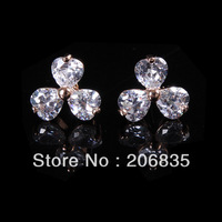 Flower Earrings Design AAA+ Colorful Swiss Cubic Zirconia Leaf Earrings For Women For Party/Weddings