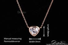 Hot Sale Love Heart Designer CZ Diamond Charms Party Necklace pendants 18K Platinum Plated Wedding Jewelry