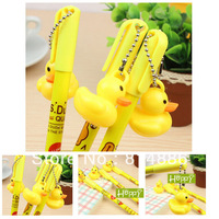 Free shipping 20pcs/lot Yellow duck design ball pen,ballpoint pen, Stationery,Wholesale,best gifts for kid's