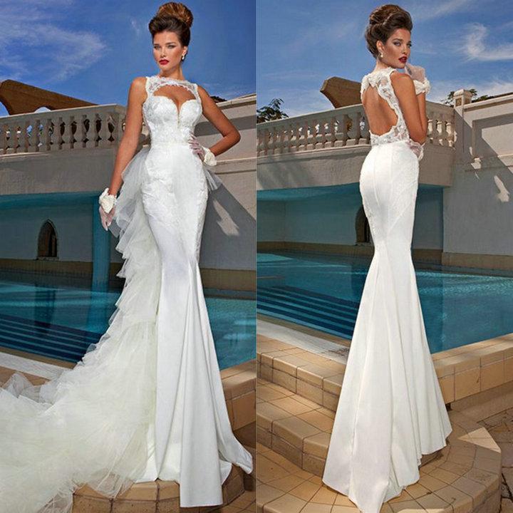 Свадебные платья русалка цены и