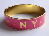 Free shipping Wide Metalic Enameled London,Paris,NY Engraved Bangle
