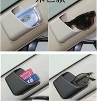 1pcs new storage box car paste type ABS storing convenient glove box supplies automotive interiors for Phone Holders black