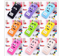 For iphone 5 Soft silicone M&M Fragrance Chocolate Case For iphone 5S M Rainbow Beans Mobile Phone Shell