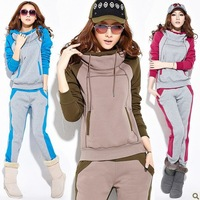 Free Shipping Hot Sale 2014New Spring Hoodies Sweatshirts women suit-dress sports wear fashion Korean leisure suit sport Hoodies