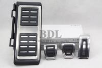 Stainless Steel Manual Transmission MT Pedal (Footrest+Gas+Clutch+Brake Pedal) For VW LHD Golf MK7 7 VII Original Package