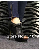 2014 fashion designer shoes Europe and United States considers itself high temperament metal fish mouth high documentary shoes5