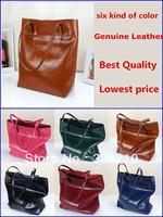 new 2014 spring NEW ARRIVAL hot-selling women genuine leather handbag brand bag