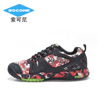Women and man  Outdoor  lovers walking  slip-resistant Camouflage hiking sports shoes off-road