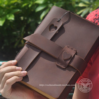 Roc magic vintage genuine leather tsmip notebook diary