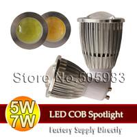 Fedex Ship Wholesale 100PCS 5W 7W COB AC 110V 220V 250V GU10 Spotlight Warm Nature White Light Indoor LED Spot Down Bulb Lamp