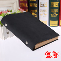 Cowhide surface notepad thick diary nostalgic vintage fashion leather loose-leaf a5 commercial