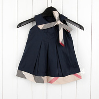 2014 Top Fasion New Arrival Denim A-line Dresses Baby Girls Dress Summer Sleeveless Princess Clothing And Color Fit 4m-24m 1pc