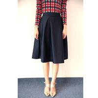 free drop shipping women high waist vintage pleated skirt umbrella skirt for spring Wine Black Darknavy