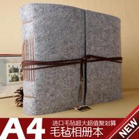 100% wool felt photo album original design Large quality handmade diy photo album book