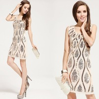 women clothing,plus size,summer dresses,spring 2014 casual dress, new 2014 summer dress,knee length party dresses,
