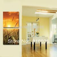 2 Panels Huge Home decor Wall Hanging Landscape Modern Decorative Combination Picture Print Oil Painting Art Paint Canvas pt698