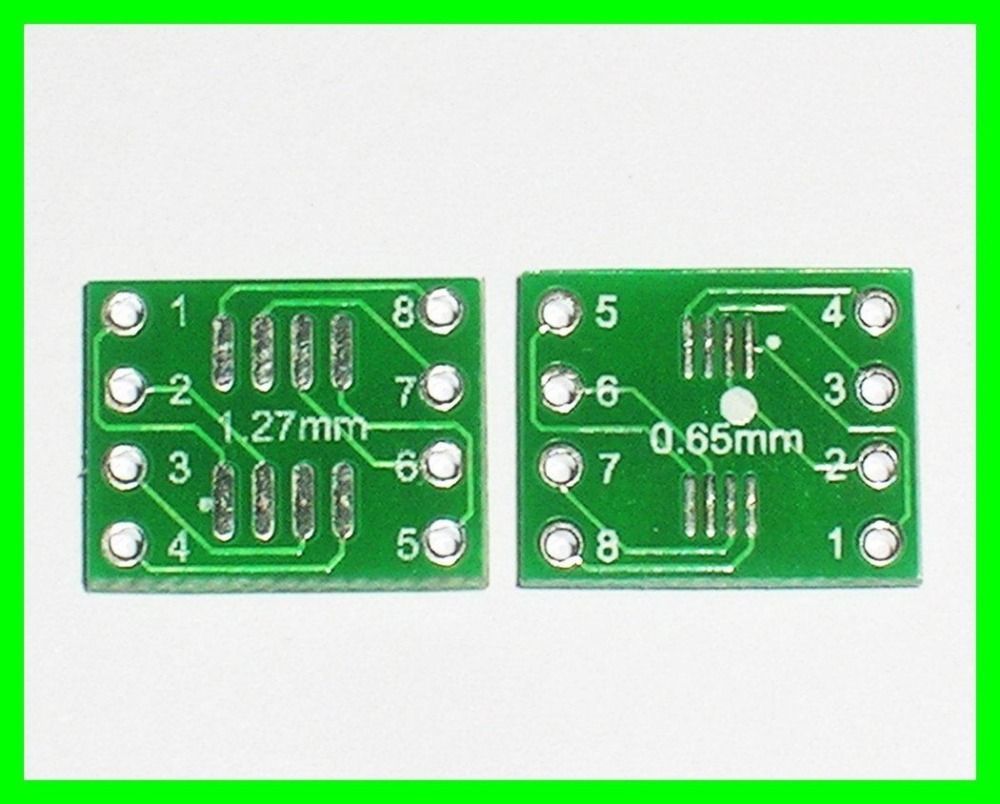 Free Shipping 20pcs SOP SOIC-8 TO DIP-8 Adapter PCB SMD Convert Double Side DIP 8pin Width 10.16(China (Mainland))