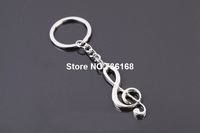 Free shipping simbolo musica fashion key keyring gift personalized trinket wholesale hotsale metal musical symbol keychain metal