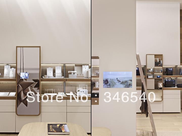 2014 nuevo diseno mdf blanco elegante stand exhibidor - Sofas elegantes diseno ...