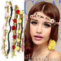 Beach flower hair accessory bride bridesmaid garland hair band props flower headband