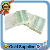 Free shipping! Wholesale histology sldies set of 100/Prepared Microscope Slides in Plastic Box