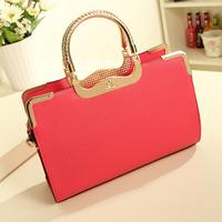 2014 New Hot Selling Fashion Women Handbag Female Elegant PU Messenger Bag Retro Lady Tote Shoulder Bag Sling Bag