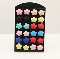 New Design 12 Pairs Exquisite Star Stud Earring Charming Popular Women And Girls Elegant Stud Earring Jewelry