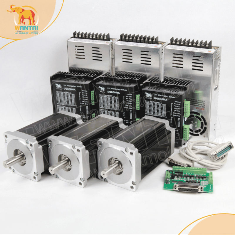 Best selling! CNC Router kits 3Axis Nema 34 Stepper Motor 1600oz double shaft CNC Router & Mill(China (Mainland))