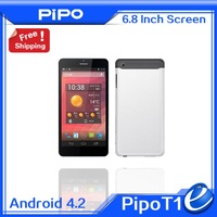 "6.8"" Pipo T1 3G Tablet Dual Sim 960x540 Android 4.2 MTK6572 Dual Core Phone Call 4G ROM 2.0MP WCDMA WiFi GPS"