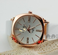 Fashion Square Ladies Quartz Watch With Leather Band