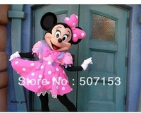 Minnie Mascot Costume Minnie Mouse Pink Adult Size Fancy Dress Suit Free Shipping