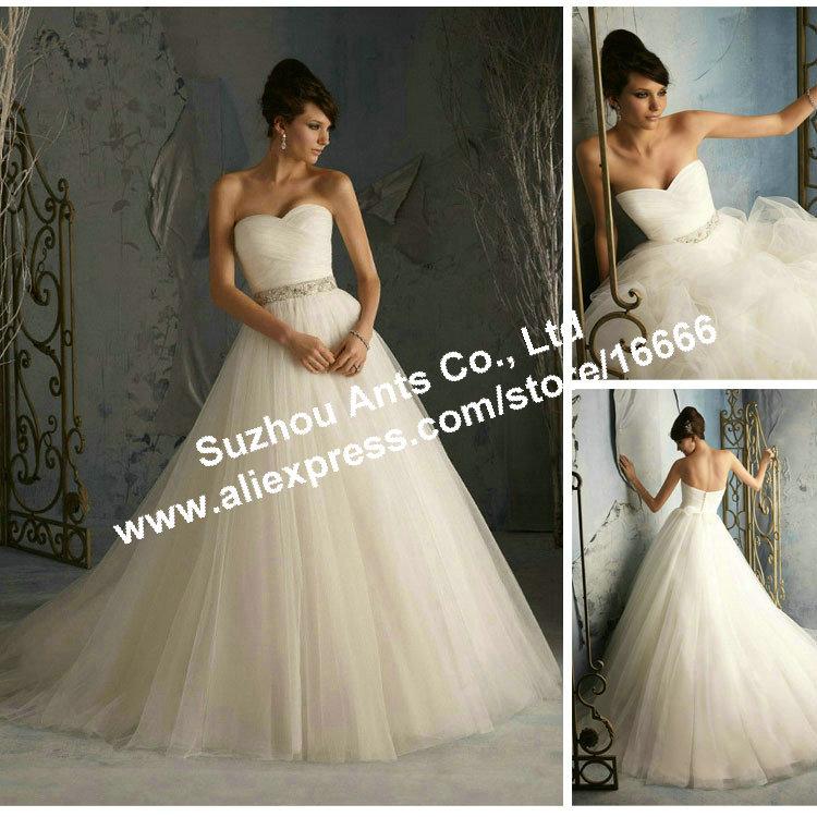 Fidanzata bianco avorio abiti da sposa principessa sconto aw1788