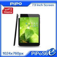 100% Original 7.9'' PIPO S6 RK3188 Cortex A9 Quad Core1GB DDR3 16GB 1.4GHz Touch Screen Tablet PC(In Stock)