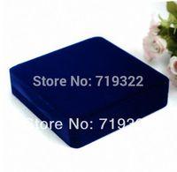 "luxury velvet square shape jewelry box/case 195*190*48mm/7.5""*7.5""*1.9""  packing box wedding gift box free ship"